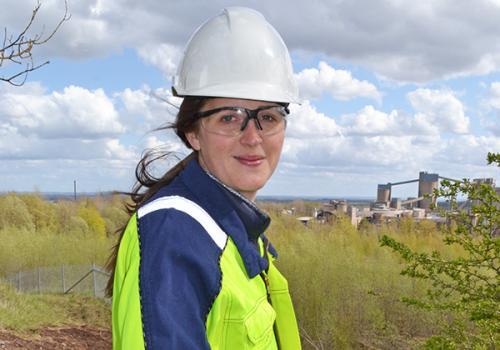 Marie Sjöstrand, Environmental Manager Cementa Skövde